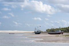 Sea island beach. Beach island sea brasil boat Royalty Free Stock Photos