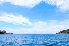 Sea island beach Stock Images