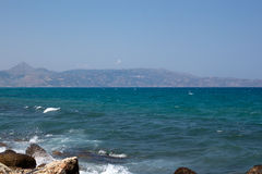 The sea on the island of Crete Royalty Free Stock Photo