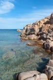 Sea on the island of La Maddalena. Blue sea on the Island Maddalena in Sardinia Royalty Free Stock Photo
