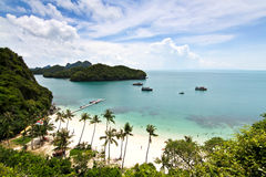 Sea. Island scenery. Surat Thani Province of Thailand, which has a natural splendor Royalty Free Stock Image