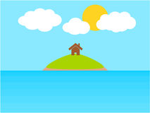 Sea island summer vacation Royalty Free Stock Image
