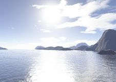 Sea and islands Stock Photo