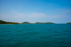 Sea and Islands in Cambodia. Royalty Free Stock Photos