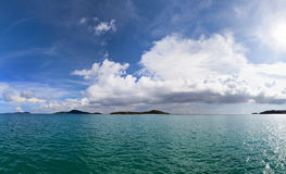 Sea with islands - the landscape Royalty Free Stock Photography