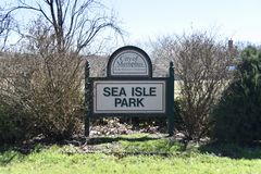Sea Isle Park, Memphis, TN. Sea Isle Park provides indoor and outdoor recreational areas and facilities, playgrounds, ball and athletic fields, trails, and royalty free stock photography
