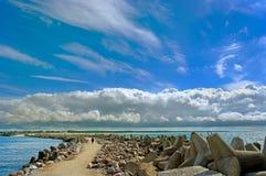 Sea breakwater. Stock Images