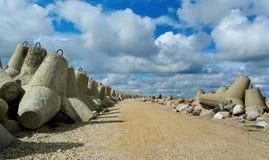 Sea breakwater. Stock Photography