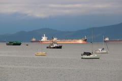 The Sea Journey Bulk Carrier Stock Image