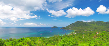 Sea and jungle. beautiful ko tao island. Thailand Royalty Free Stock Images