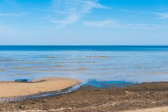 Sea in Jurmala. On a sunny day stock images
