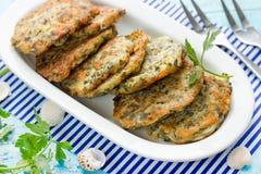 Sea Kale Japanese Pancakes Stock Photos