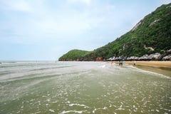 Sea Kaokralok beach Pran Buri in thailand Royalty Free Stock Image