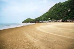 Sea Kaokralok beach Pran Buri in thailand Royalty Free Stock Photography