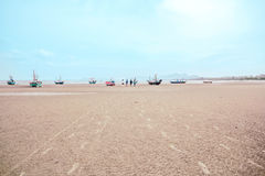 Sea Kaokralok beach Pran Buri in thailand Stock Image