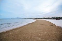 Sea Kaokralok beach Pran Buri in thailand Stock Photos