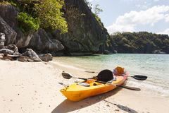 Sea kayak at the beach Stock Photography