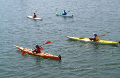 Sea Kayak Convoy Stock Photography