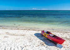 Sea kayak at the lonely Anda white beach of Bohol Island Royalty Free Stock Images