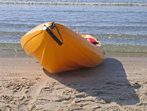 Sea kayak ready to go Stock Images