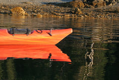 Sea Kayak Reflection Stock Photo