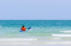 Sea kayak in thai ocean Royalty Free Stock Photo