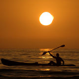 Sea kayaking Stock Photo
