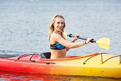 Sea kayaking Stock Image