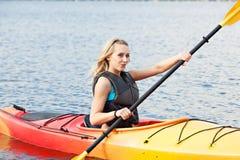 Sea kayaking royalty free stock image