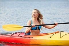 Sea kayaking royalty free stock photos