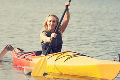 Sea kayaking Stock Photography