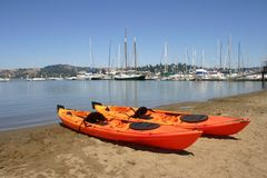 Sea Kayaks Stock Photos
