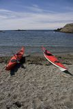 Sea Kayaks Royalty Free Stock Photos