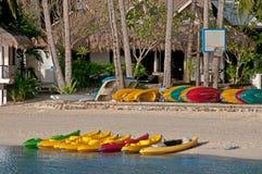 Sea kayaks on shore ? Stock Photo