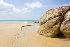 The sea at KhaoNaYak in PhangnNga, Thailand Royalty Free Stock Photos
