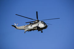 Sea King Helicopter Against blue Sky Stock Image