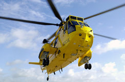 Sea King rescue helicopter. In flight Stock Photo