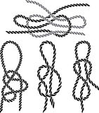 Sea knot set stencil Stock Images
