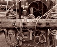 Sea knots, sea regatta, monochrome royalty free stock images
