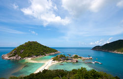 Sea. Koh Nang yuan Island,Surat,Thailand. one of the most famous diving point in thailand Stock Photos