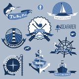 Sea Labels Set Stock Image