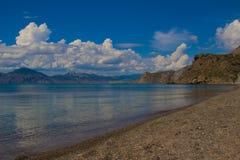 Sea lagoon. The Black Sea coast, sea cliffs, clear water Stock Photos