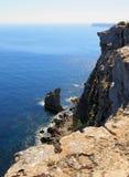 Sea of the LAMPEDUSA island in Italy. Clean sea of the LAMPEDUSA island in Italy stock photo