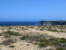 Sea of the LAMPEDUSA island in Italy Royalty Free Stock Photos