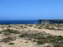 Sea of the LAMPEDUSA island in Italy. Clean sea of the LAMPEDUSA island in Italy royalty free stock photos