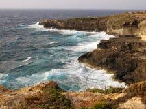 Sea of the LAMPEDUSA island in Italy. Clean sea of the LAMPEDUSA island in Italy royalty free stock photo