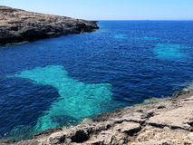 Sea of the LAMPEDUSA island in Italy royalty free stock photography