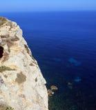 Sea of the LAMPEDUSA island in Italy. Clean sea of the LAMPEDUSA island in Italy royalty free stock image