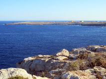 Sea of the LAMPEDUSA island in Italy Stock Photo
