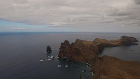 Sea and land. Aerial movie over the sea and land stock video